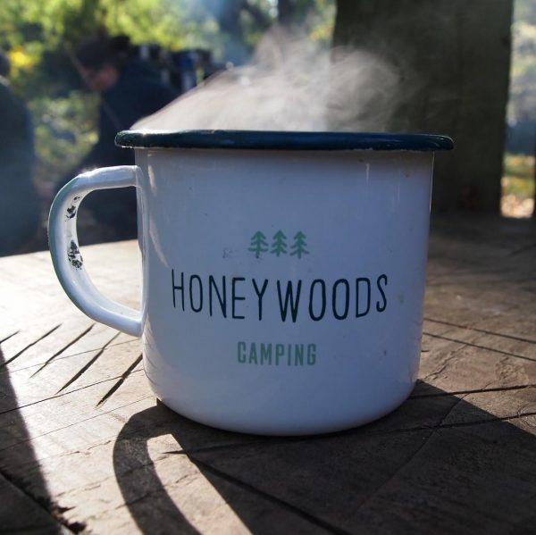 HoneyWoods enamel camping mug